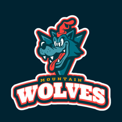 Sports Logo Maker with a Cartoonish Wolf Mascot 1651f-2331