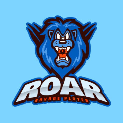 Team Logo Maker Featuring a Fierce Cartoon Lion 444f-2331
