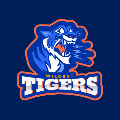 Team Logo Maker with a Roaring Tiger Mascot 1560f-2331