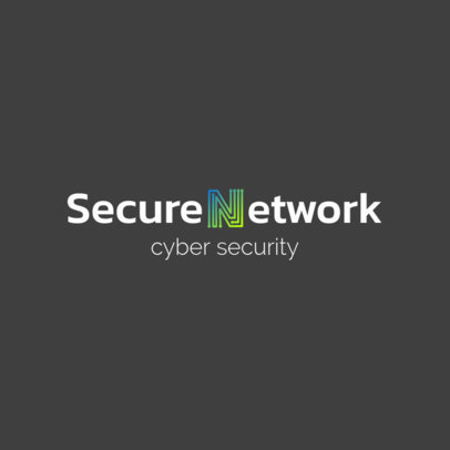 Logo Maker for a Cyber Security Company with an Electric-Circuit-Styled Graphic 1798h 2342