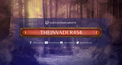 MOBA Twitch Banner Template Featuring a Forest Background 1461f-1648