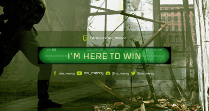 Twitch Banner Maker with a Counter Strike Style Background 1461i 1652