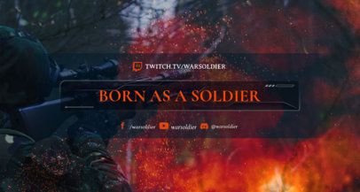 Twitch Banner Generator for a War-Themed Channel 1461k 1652