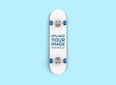 Render Mockup of a Skateboard Against a Flat Surface 383-el