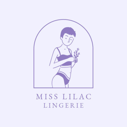 Lingerie Brand Logo Maker Featuring Classy Illustrations 2356e