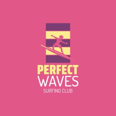 Retro Logo Template for a Surfing Club 2376d 2365