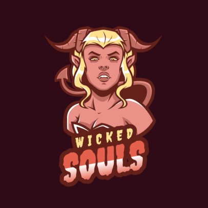 Gaming Logo Maker Featuring a Succubus 1747v--2360