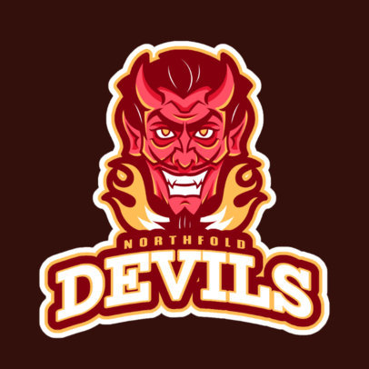 Team Logo Creator Featuring a Smiling Devil 29j-2360