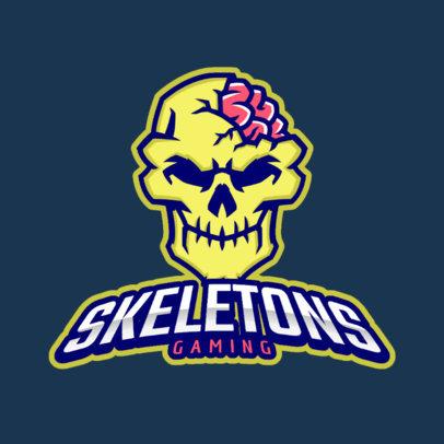 Logo Maker Featuring a Brainy Skull 383aa-2363