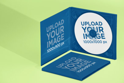Mockup of Two Digipaks in Different Views 28343