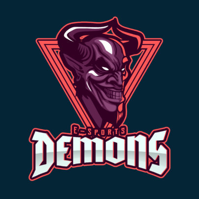 eSports Logo Template Featuring a Creepy Smiling Demon 1750q 2361