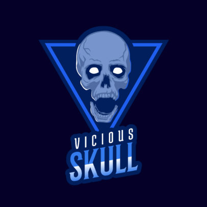 Gaming Logo Generator Featuring a Spooky Skull Graphic 1747x-2362