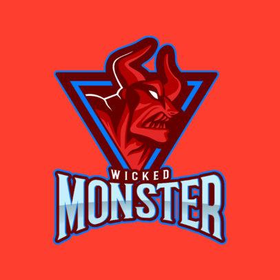 Esports Logo Maker Featuring an Evil Demon Illustration 1750p-2362