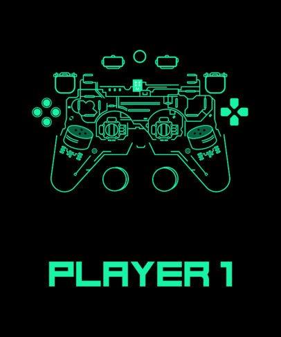 T-Shirt Design Maker Featuring a Deconstructed Gaming Controller 1634f