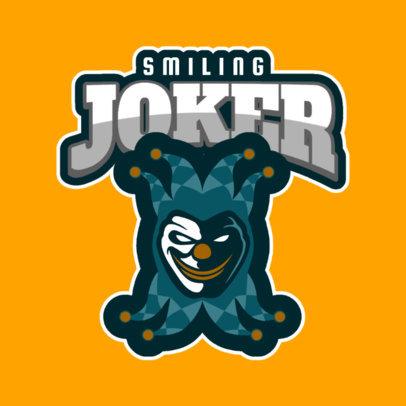 Esports Logo Template with an Evil Clown Clipart 1869k-2362