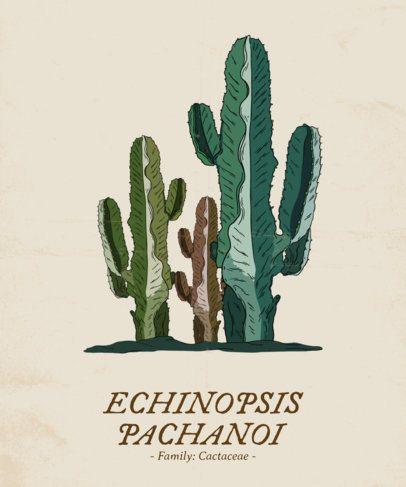 Botanical T-Shirt Design Template with Plants Scientific Names 1661
