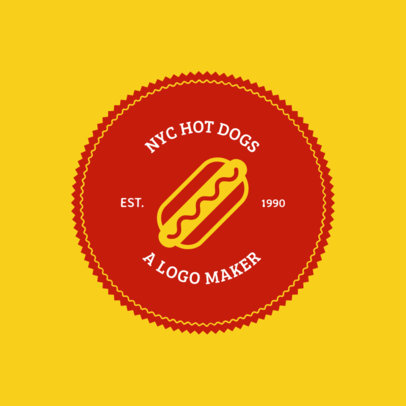 Fast Food Logo Maker Featuring a Hot-Dog Clipart 1013b