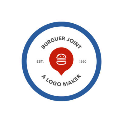 Fast Food Logo Template Featuring a Minimalistic Design 1013a