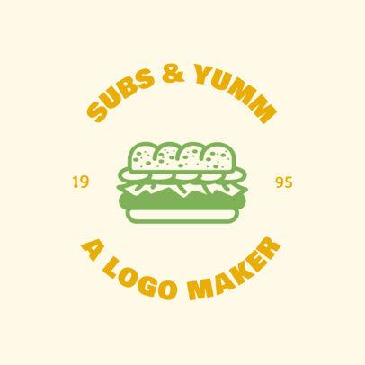 Fast Food Logo Maker Featuring a Sandwich Illustration 1013d