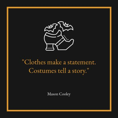 Halloween-Themed Instagram Post Template for Celebrity Quotes 1099f