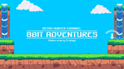8-Bit YouTube Banner Maker for Gaming Channels 1673