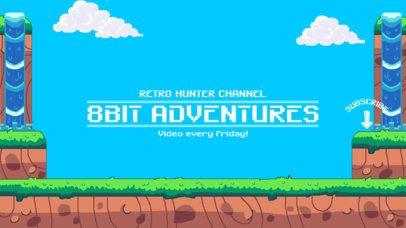 8-Bit YouTube Banner Maker for Gaming Channels 1673