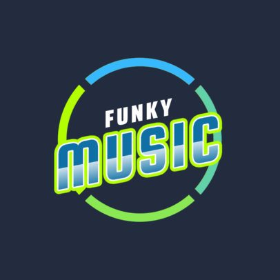 Online Logo Template for Funky Music DJs 2351b