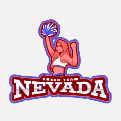 Cheerleading Logo Maker Featuring an Illustrated Character 2412e