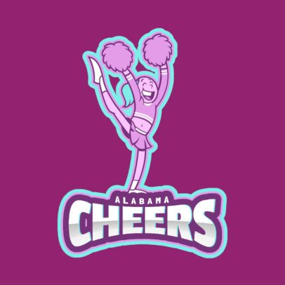 Logo Maker for Cheerleaders with a Playful Illustration 2412f