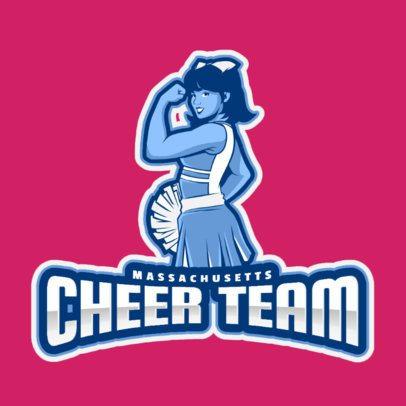 Online Logo Maker Featuring a Strong Cheerleader 2412h