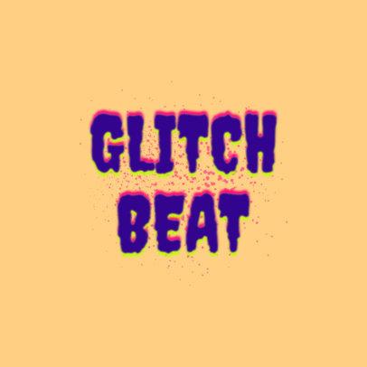 Placeit - Disc Jockey Logo Generator with a Glitchy Retro Style