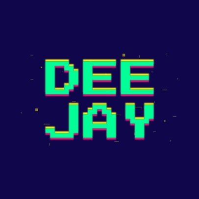 Disc Jockey Logo Generator with a Glitchy Retro Style 2350f