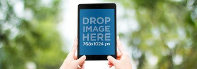 iPad Mockup in an Outdoor Environment a9305