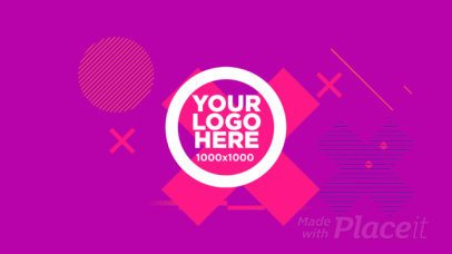 Logo Reveal Intro Maker with Lively Geometric Animations 965