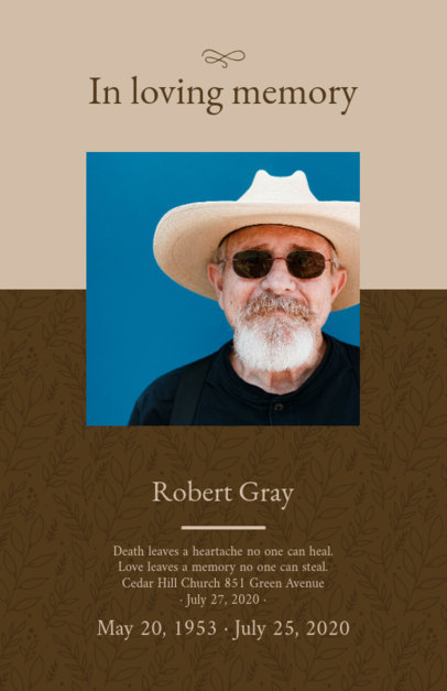 In Loving Memory Funeral Program Template 1647c