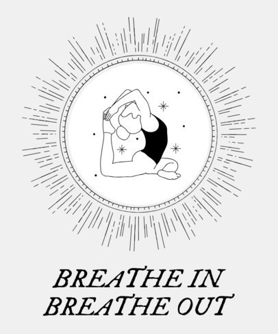 T-Shirt Maker with Spiritual Yoga Poses Illustrations 1666
