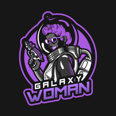 Fortnite-Style Gaming Logo Maker Featuring an Astronaut Woman