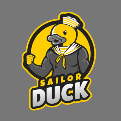 Funny Gaming Logo Maker Featuring a Sailor Duck Inspired in Fortnite