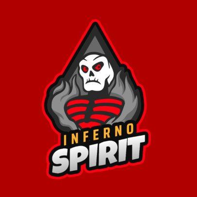 Gaming Logo Maker Featuring a Fortnite-Inspired Flaming Skeleton 2401b 2407