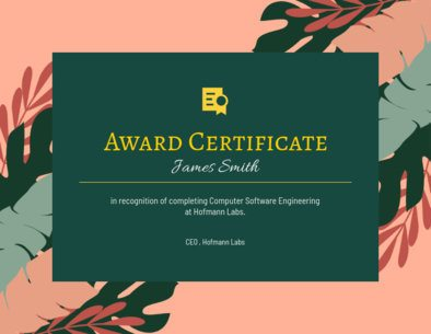 Award Certificate Maker Featuring a Tropical Clipart Surface 1671i