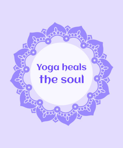 T-Shirt Design Template with a Soulful Yoga Quote 1666f