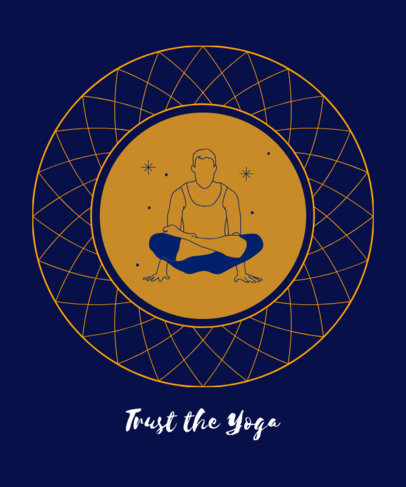 Yoga T-Shirt Design Maker Featuring a Balanced Man 1666g