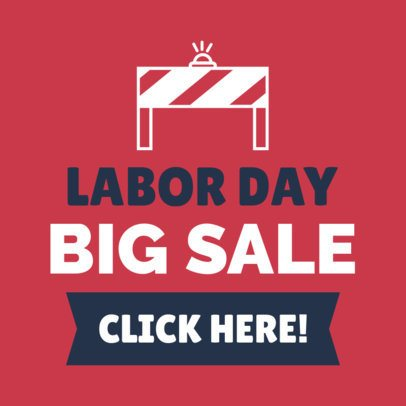 Banner Maker for a Labor Day Sale 1048k-1693
