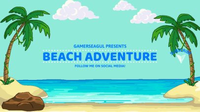 Beach-Themed YouTube Banner Maker for Adventure Gaming Channels 1673d
