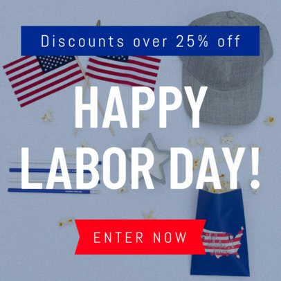 American Labor Day Banner Maker 747h-1692