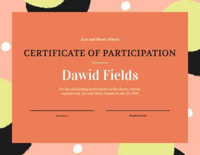 Certificate of Participation Template 1669b