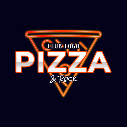 Fun Nightclub Logo Maker with a Neon Pizza Icon