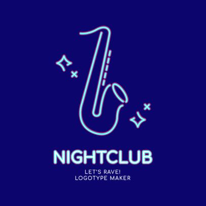 Nightclub Logo Maker with a Glowing Neon Style 2414