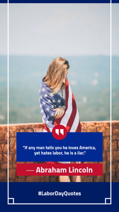 Instagram Story Generator Featuring a Labor Day Inspiring Quote 1045f 1690
