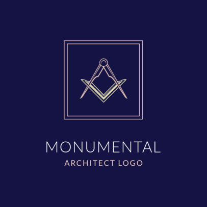 Logo Maker for Architecture Firms Featuring a Drawing Compass